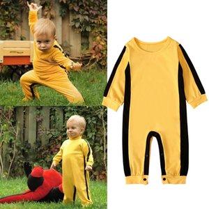 niños muchachos de la ropa de color sólido mameluco infantil Kung Fu chino ropa de bebé guapo de moda del mono de otoño del resorte Z1254