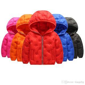 Kids Down Hoodies Coats Cotton Lighter Zipper New Pressing Technology Long Sleeve Toddler Baby Boys Girls Winter Jacket Snow Coat
