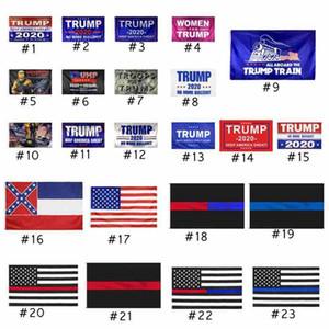 Trump Flag 90 * 150cm Trump 2020 Keep America Grand drapeau Etats-Unis Drapeaux Mississippi State Flags Election présidentielle Trump américaine CYZ2486