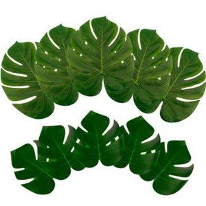 12Pcs Popular Green Artificial Tropical Palm Leaves Hawaiian Luau Party Scene Wedding Table Decor ZOE