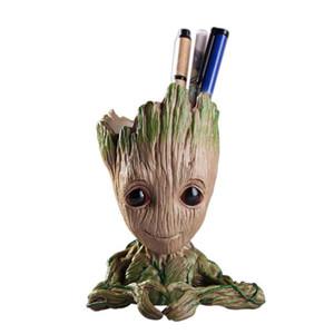 Saksı Bebek Groot Saksı Sevimli Oyuncak Kalem Pot Tutucu PVC Kahraman Modeli Bebek Ağacı Man Bahçe Tesisi Pot Groot