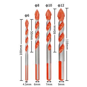 متعددة الوظائف في نهاية المطاف لقم السيراميك الزجاج الضرب هول العمل 6-12mm مفك كهربائي حفر بت ريح