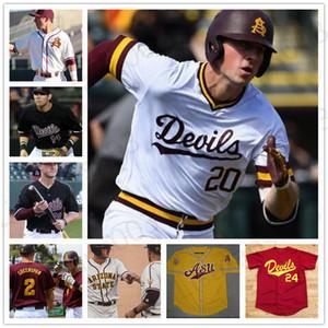 Custom Asu Arizona State College Béisbol cosido Barry Bonds Reggie Jackson Spencer Torkelson Drew Swift Hunter Jump Jersey