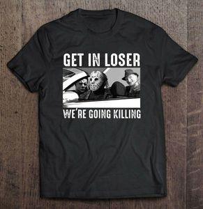 Получить в Loser Мы собираемся Killing Freddy Krueger Halloween Men T-Shirt S-5XL Мужчины Женщины Мужская мода тенниску Бесплатная доставка