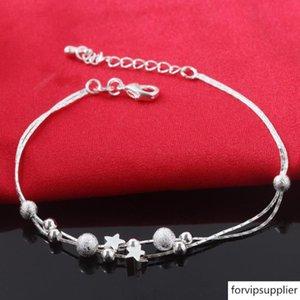 Nouveau luxe 925 femmes en argent Chain Link Bracelets Charm Pendent Top Vente Amitié Bracelet Bangles Livraison gratuite