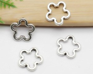 200PCS lot Tibetan Silver alloy Flower Loose beads Spacer Beads for Jewelry Making Bracelet DIY Accessories Craft 16mm