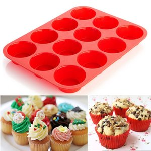 12 Cup cake mold Silicone cake Molds Baking Pan cake Mold Muffin NonStick Microwave Safe baking tools