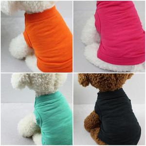 Cães do vestuário do cães Cães de algodão Roupas de cor sólida PET APARELAS Fornecedores Primavera e Verão Cachorrinho Vest Confortável Não Olho abafado Captura 9KD D2