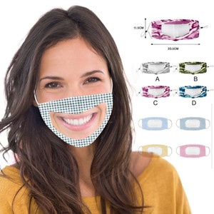 Yetişkin Çocuk Pamuk Tasarımcı Yüz Maskesi Gözler ile Temizle Pencere Mascarillas ile Koruyucu Ayrılabilir Shield Yıkanabilir Toz geçirmez Ağız Maskeleri