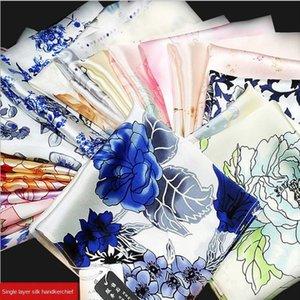 New Silk plain crepe satin bra small gift Bra handkerchief printing classical Chinese style genuine silk handkerchief ladies