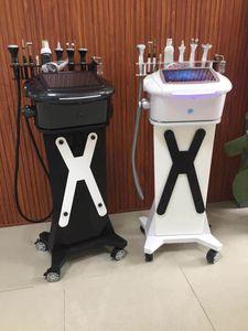 10 in1 multifuncional Oxigênio Facial spray máquina gestão de ultra-som frio martelo Scrubber Branca cuidados da pele facial limpeza profunda integrado