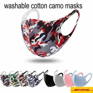 Unisex FY9041 47 için ABD Stok 3D kamuflaj Tasarımcı Kamuflaj maskesi Yıkanabilir Yüz maskesi Lüks sunproof toz geçirmez Bisiklet Spor Ağız Kapak Maskeleri