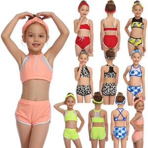 رخيصة أطفال عائلي مطابقة للطفولة نمط الرياضة اثنين من قطعة لطيف الفتيات ملابس السباحة ملابس السباحة تنفس الجلد ودية ملابس السباحة