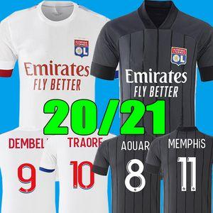 2020 2021 قميص أولمبيك ليون لكرة القدم الفانيلة ممفيس تراوري FEKIR كرة القدم 20 21 OL LYON الأعور مايوه دي القدم الرجال الأطفال مجموعة موحدة