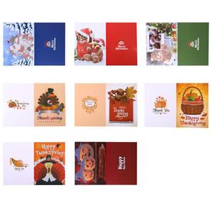 8шт 5D Алмазные Картина рождественские открытки мультфильм Набор открытки DIY Новый год 2020 Поздравительные открытки Xmas подарков Санта-Клаус / снеговика