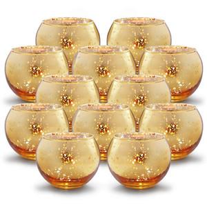 6 حاملي قطع الزئبق زجاج شمعة نذري الخصم الاقمشه بيركلي شمعدان الزفاف يرتكز الأطراف الرئيسية الديكور حلية هدية