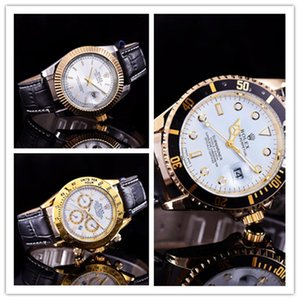 2020 new relogio masculino mens watches pandora fashion Black Dial Calendar gold Belt Master Male gifts couples