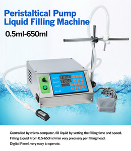 Hot sale peristaltic pump filling machine 0.5-650ml min with 1 heads liquid filler for perfumes, edible oil filling machine