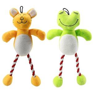 애완 동물 장난감 Cootton 로프 고양이 장난감 인터랙티브 개 장난감 기차 도구 35 개를 동반 / 녹색 노란색 컬러 powerstore2012 JdlaG 팩