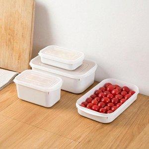 350-1600ML стекируемый Холодильник Ящик для хранения Кухни Multigrains Sealed Jar Бытовых пластиковых фруктов Клецки Зернистого Q6x8 #