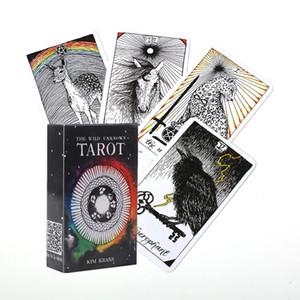 البرية غير معروف بطاقات التارو سطح السفينة كاملة الإنجليزية التارو الإرشاد مصير التكهن النبوءة لعبة مجلس بطاقة اللعب