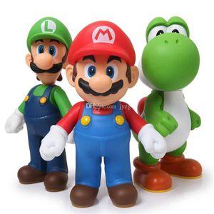 Designer-Odyssey PVC-Tätigkeits-Abbildung Modell-Puppen Spielzeug donkey kong Super Mario Bros Bowser Koopa Luigi Yoshi Mario Car Toad Peach Princess