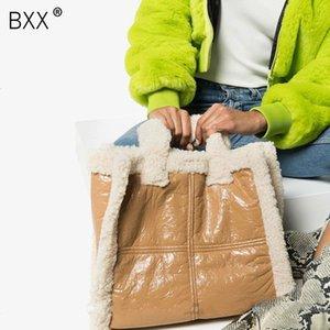 [BXX] Faux Fur Bandoleira Sacos para mulheres 2020 New Sólidos ombro Cor Inverno Messenger Bag Lady Totes Aqueça Bolsas Bolsas A263