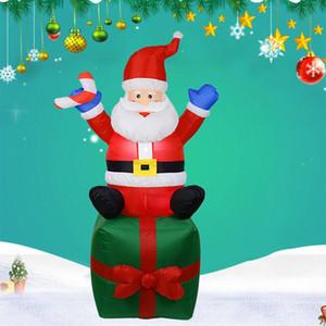 Inflável Papai Noel do Natal LED iluminado Shopping Pátio decoração interior inflável ao ar livre Velho boneco de neve Decoração de Natal NsXc #