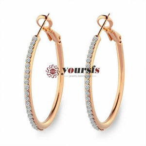 Yoursfs New design fashion hanging earrings geometric round shiny rhinestone earrings women's jewelry