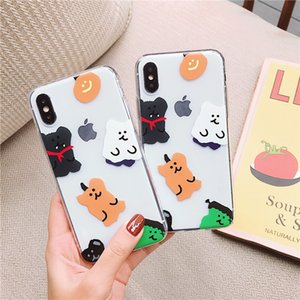 Kindy bear case for iPhone 6s 11 Pro Max cute bear soft tpu cover for iPhone 7 8plus clear silicone cartoon phone X XR Xs Max