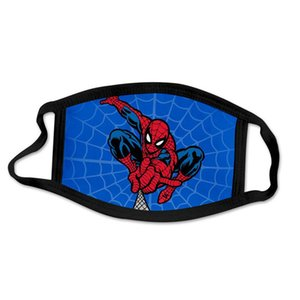 Reusable Spiderman Mask Unisex Cartoon Breathable Cotton Windproof Pollution Mouth Face Masks For Kids Adult sq2009 eRRsB