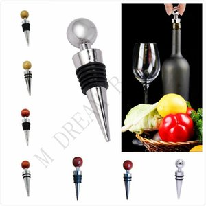 Zinc ally Wooden Wine Bottle Stopper Reusable Durable Fresh Keeping Sealed Lids For Wine Bottle Kitchen Bar Party Tools