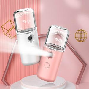 Pulvérisateur hydratant portable Nano Hydratant Beauté Humidificateur Mini Rechargeable Cold Spray Maker Maker Humidificateur Macaron Pulvérisateur d'alcool