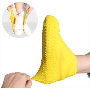 3 Size Waterproof Shoe Cover Silicone Shoes Protectors Rain Boots Overshoe Foldable Galoshes for Outdoor Rainy Days ePacket