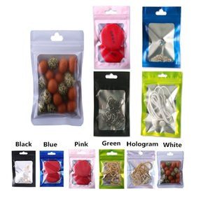 1000pcs Pink Black White Green Blue Translucent Zip-Lock Mask Gifts Single Packaging Bags Jewelry Ornaments Head Rope USB Pen Storage Bags