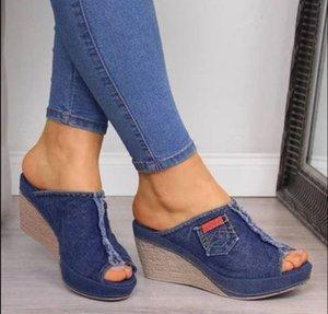 Breathable women Platform Wedges Shoes woman Open Peep Toes Slipper Summer ladies Rome Beach Sandals Y200624
