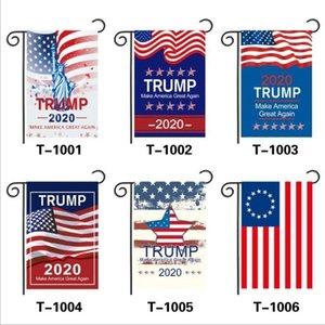 Trump Garden dobro tomou EUA American Star listrado flor equipe de boas-vindas da bandeira 30 * 45CM impressão Bandeiras DHC35