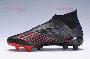 Laceless Predator 19+FG x Pogba Virtuso kids soccer shoes Archetic Hococal chuteiras de futebol Children Youth Boys Football cleats Boots