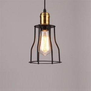 LED Pendant Light Retro Restaurant Hanging Lamp Industrial Loft Kitchen Bar Aisle Corridor Bedside Iron Art E27 Lighting Fixture