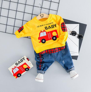 New Spring and autumn boys and girls sweater jeans two-piece suit children's clothing wholesale size 70-100cm