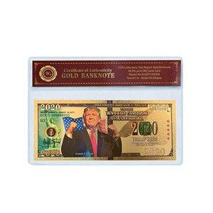 Trump 2020 Speech Коллекция монет США Избирательные поставок золота Банкнота золотой фольги Памятная монета Креативный Монета DHF196