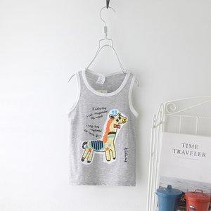 wear summer new sika deer baby sleeveless top Top clothing Children's children's back