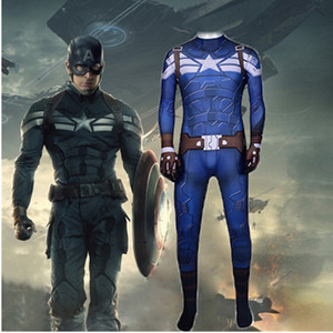 Captain America Steven Rogers clothes tight service service Body play clothing jumpsuit cosplay Halloween role-playing clothing