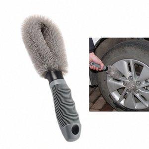 Carclean Detailing Lavado rueda de coche del cepillo cepillo de limpieza de herramientas neumáticos Limpiar Tipo de aleación de cerda suave del limpiador del Automóvil Productos para el coche # YghU