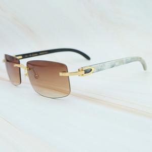 A natureza buffs chifre óculos de sol homens nova tendência moda retângulo mulheres óculos de sol praia de condução sombra luxo carter sunglass