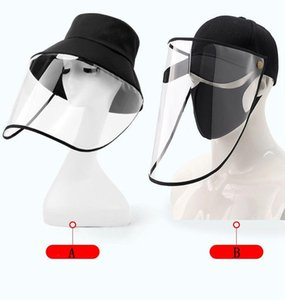 Bucket Hat Face Shield Регулируемое анфас крышки изоляции Защитная маска Бейсболка Предотвращение DROPLETS Protective DHA6 продукта