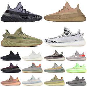Adidas yeezy boost 350 v2 Eliada bred erkekler kadınlar koşu ayakkabı zyon zebra krem kül kükürt yecheil oreo erkek eğitmenler spor sneakers