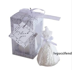 50pcs set Wedding Bride Dress Candle Favor Wedding Gifts for Guest Wedding Souvenirs Party Candle Wholesale