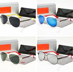 Avrupa ve Amerikan klasik tarzı erkekler güneş gözlüğü markası tasarımcı renkli çerçeve UV400 yüksek kaliteli erkek havacı lüks güneş gözlükleri