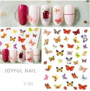 Top seller Y series Butterfly Nail Stickers 3D Nail Art Sticker Decals Y88-Y94 DHL fast shipping